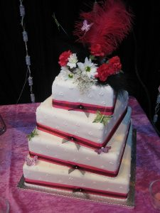 4 tiered wedding square cake   Simplicity events   Asian Weddings